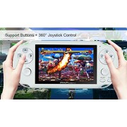 "Handheld Game Console , 650 Classic Games 4.3"" 64 Bit Portable Game Console PAP-GametaII Support GBA / GBC / SEGA / NES / SFC / NEOGEO - White"