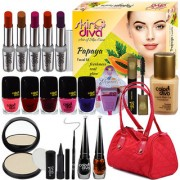 Color Diva Makeup Combo Sets With Skin Diva Skin Care Facail Kit-80g Pack of 24 Pc