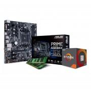 Microprocesador Ryzen 3 + Tarjeta madre AMD A320 + Memoria RAM 4GB