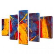 Tablou Canvas Premium Abstract Multicolor Culori Tari 2 Decoratiuni Moderne pentru Casa 120 x 225 cm