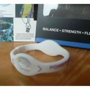 Balanční náramek s hologramem Power Balance - bílý-fialový