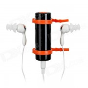 Impermeable mini reproductor de mp3 w / 3?5 mm jack / 4 GB de RAM - negro + naranja