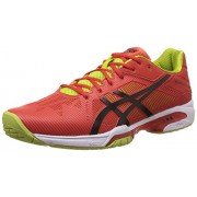Asics Men's Gel-Solution Speed 3 Orange, Black and Lime Tennis Shoes - 7 UK/India (41.5 EU) (8 US)