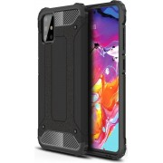 Samsung Galaxy A71 Hoesje Shock Proof Hybride Backcover Zwart