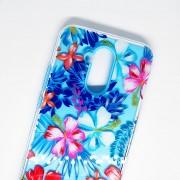 Funda Jyx Mate 20 lite Huawei Uso Rudo Flores Diseño - Azul