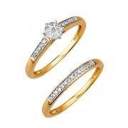 albamoda.ch Damenring mit Diamant, Damen, gold