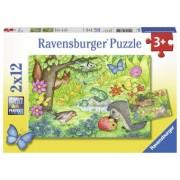 Puzzle Copii 3Ani+ gradina, 2x12 piese