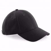 Beechfield Wollen baseballcap zwart voor dames
