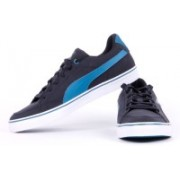 Puma Court Point Vulc Buck Casual Shoes For Men(Black)