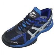 Port Men's Jumper Blue Black Pu Badminton Shoes
