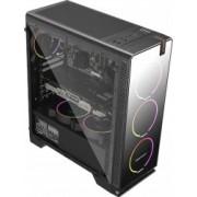 Carcasa Gaming Segotep Halo 7 Plus ATX Mid Tower USB 3.0 4x Ventilatoare LED Blue incluse Filtru praf magnetic Black