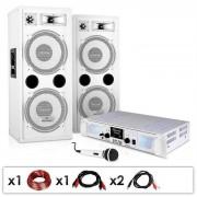 "Electronic-Star Equipo PA ""DJ-22"" – altavoces, ampli, micro, 1000W (PL-4821-3494)"
