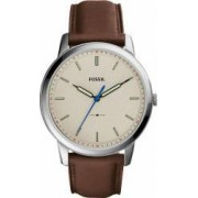 Ceas Barbatesc Fossil FS5306 The Minimalist Silver-Brown