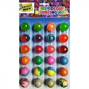 Small Bouncy Jumping Balls Set 24 Gift for Kids Return Gift for Kids (Small Balls) -Multi Colour
