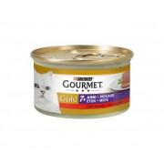 PURINA Gourmet Gold Gatto Mousse 7+ Anni Con Manzo Lattina 85g