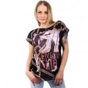 V&V Černé tričko s motivem řetězů (S) - V&V