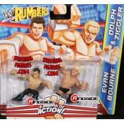DOLPH ZIGGLER & EVAN BOURNE - WWE RUMBLERS TOY WRESTLING ACTION FIGURES