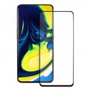 Eiger 3D Glass Edge to Edge Full Screen Tempered Glass - калено стъклено защитно покритие с извити ръбове за целия дисплея на Samsung Galaxy A80 (черен-прозрачен)