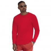 Fruit Of The Loom Lange mouwen stretch t-shirt rood voor heren