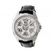 Reign Carlisle Automatic Skeleton Leather-Band Watch - Silver REIRN4203
