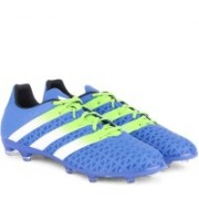 Adidas ACE 16.2 FG/AG Men Football Shoes(Blue, Green, White)