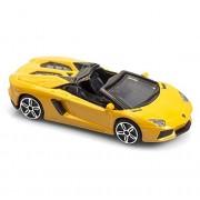 "Bburago 1/43 Street Fire (4"") Lamborghini Aventador Roadster -Yellow (Open Roof)"