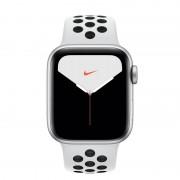 Apple Watch Nike Series 5 GPS 44mm Alumínio Cinzento com Correia Desportiva Pure Platina/Preta