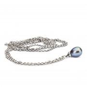 Trollbeads TAGFA-00056 Zilveren collier met peacock parel 100 cm