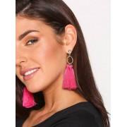 River Island Tassel Drop Earrings Örhängen Dark Pink
