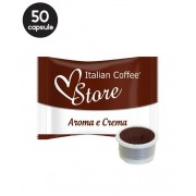 50 Capsule Italian Coffee Aroma e Crema – Compatibile Espresso Point