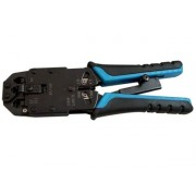 Ratchet RJ45 Network Cable Crimper Tool - Supports RJ11 / RJ12 Combo Strip and Crimping