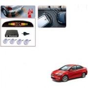 Auto Addict Car Silver Reverse Parking Sensor With LED Display For Hyundai Fluidic Verna 4s
