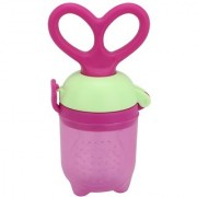 Maxbell BPA Free Silicone Food Fruit Teething Feeder Baby with Key Design Handle Green - Purple