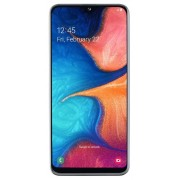 "Telefon Mobil Samsung Galaxy A20e, Procesor Octa-Core 1.6GHz/1.35GHz, PLS TFT LCD Capacitive touchscreen 5.8"", 3GB RAM, 32GB Flash, Camera Duala 13+5MP, Wi-Fi, 4G, Dual Sim, Android (Alb) + Cartela SIM Orange PrePay, 6 euro credit, 6 GB internet 4G, 2,000"