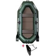 Čln Kolibri K-260 TP zelený, pevná podlaha + držiak