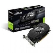Видеокарта GeForce GTX 1050, 2GB, Asus Phoenix GTX 1050, GDDR5, 128 bit, HDMI, DVI, DisplayPort