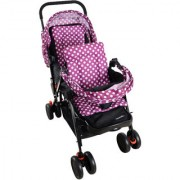 Soft Comfortable Shockproof Purple Twin Stroller Pram with Rain Cover