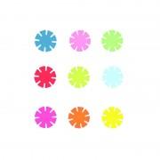 Set discuri colorate pentru construit, pot fi unite intre ele, 144 piese