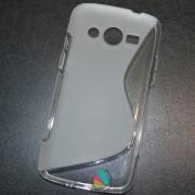 Husa Silicon Gel Samsung Galaxy Core 4G G386F LTE S-Line Alba Semitransparenta