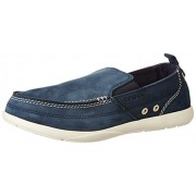 Crocs Men's Harborline Nubuck Loafer M Navy and Stucco Leather Loafers and Mocassins - M8 (15626-46K)