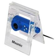 Camera Web Msonic MR1803B, VGA, Microfon (Albastru)