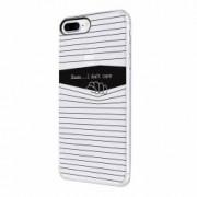 Husa Silicon Transparent Slim I Dont Care Apple iPhone 7 Plus 8 Plus