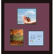 ArtToFrames Arte para double-multimat-281 - 815/89-frbw26061 Collage Marcos de Fotos Mat Colchoneta doble con 1 - 7 x 8,25 y 1 - 6 x 7,25 y 1 - 6,5 x 6,75 aperturas y café expreso Marco