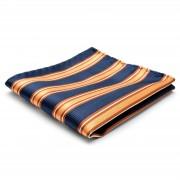 Tailor Toki Pochette de costume classique en soie à rayures