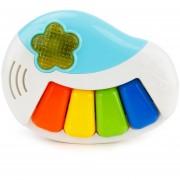 Brettbble Cartoon Bebé Niño Educación Temprana Musica Piano Juguetes Con Luz LED (azul)