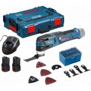 Инструмент мултифункционален акумулаторен Multi-Cutter GOP 12V-28 Set, 2 x 2,0Ah L-Boxx, 06018B5000, BOSCH