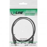 InLine USB 2.0 kabel USB A - USB B Mini 5-pins haaks 0,5m Zwart