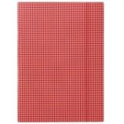 Gumis mappa, karton, A4, kockás, DONAU, piros