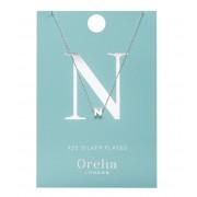 Orelia Kettingen Necklace Initial N Zilverkleurig