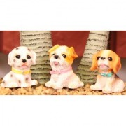 Wonderland 1.6 inches Set of 3 Bonsai Decoration Mini Dogs pups (terrarium home garden decor gifting)